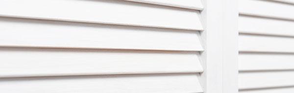 white teak shutters