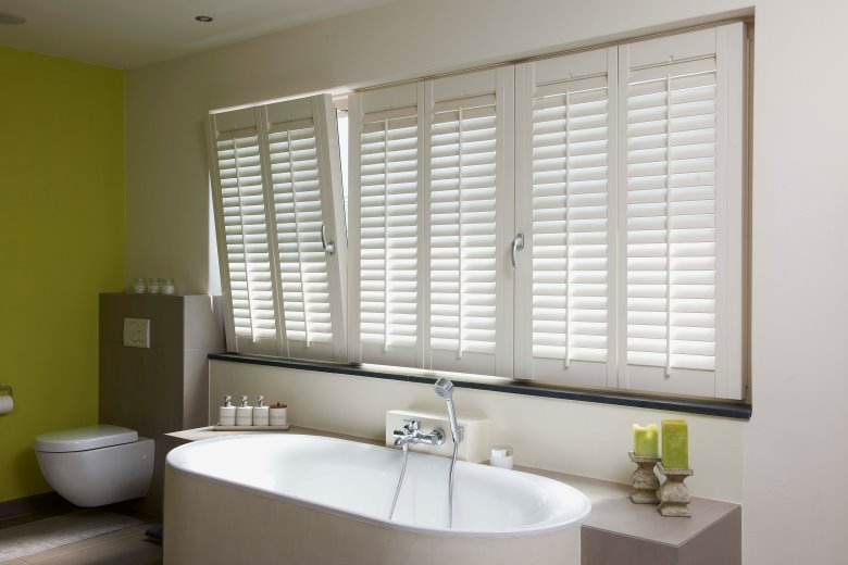 interior wood louvered shutters